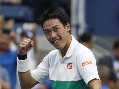 Kei Nišikori oslavuje víťazstvo