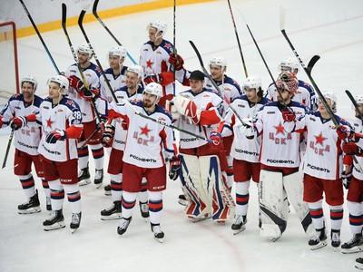 Postupové oslavy hokejistov CSKA
