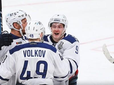Gólové oslavy hokejistov moskovského