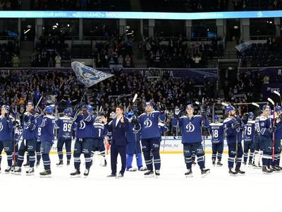 Radosť hráčov Dinamo Moskva