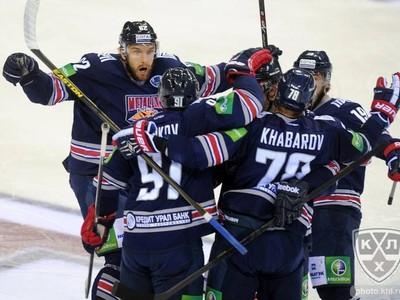 Gólové oslavy hokejistov Metallurgu