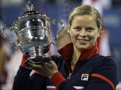 Kim Clijstersová s trofejou