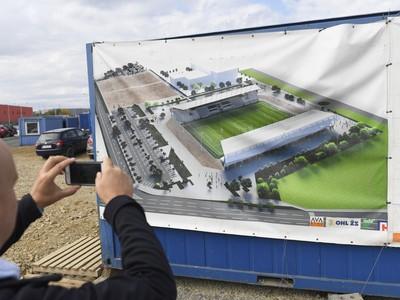 Vizualizácia Košickej futbalovej arény počas kontrolného dňa