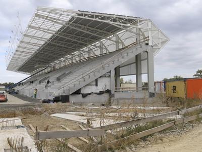 Košická futbalová aréna počas