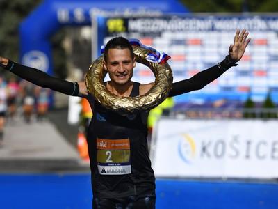 Na snímke Marek Hladík, víťaz 97. ročníka Medzinárodného maratónu mieru v Košiciach
