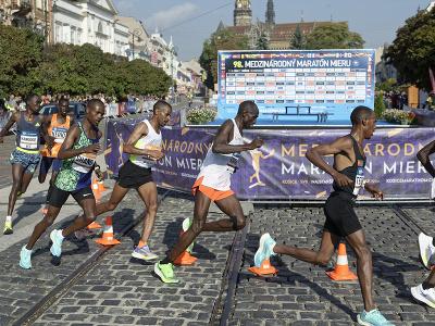 Africkí bežci na Medzinárodnom maratóne mieru v Košiciach