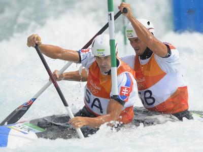 Slovenskí vodní slalomári Ladislav