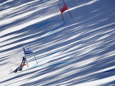 Lara Gut-Behramiová počas 2. kola obrovského slalomu v Jasnej
