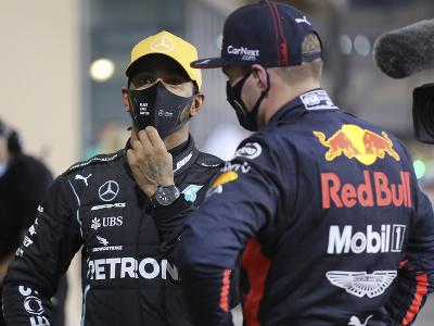 Lewis Hamilton a Max