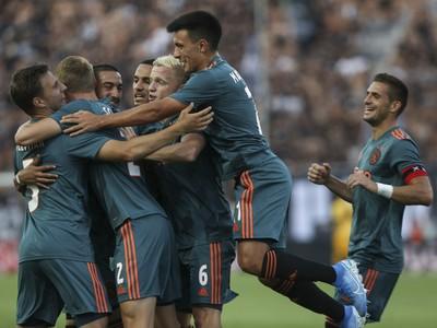 Gólové oslavy futbalistov AFC Ajax Amsterdam