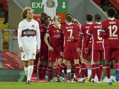 Hráči Liverpoolu sa tešia