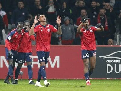 Hráči Lille oslavujú gól