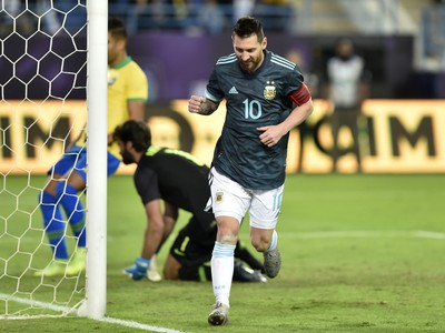 Lionel Messi počas zápasu