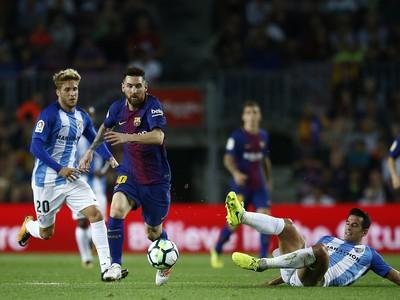 Lionel Messi bojuje s