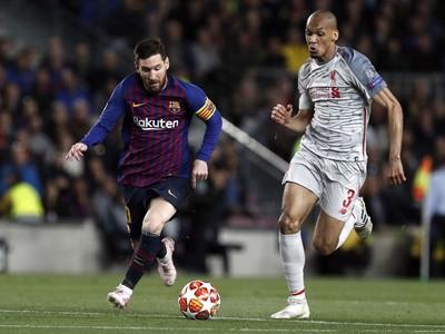 Lionel Messi a Fabinho