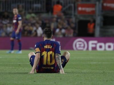 Zranený Lionel Messi