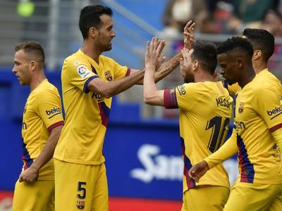 Gólová radosť hráčov Blaugranas