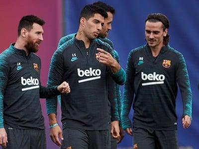 Hviezdy Barcelony na tréningu