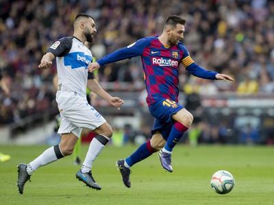 Lionel Messi v akcii