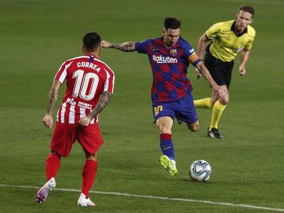 Lionel Messi a �ngel Correa