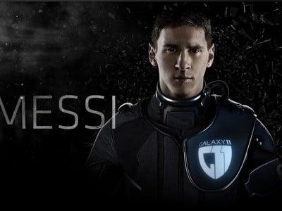 Lionel Messi vo futuristickom