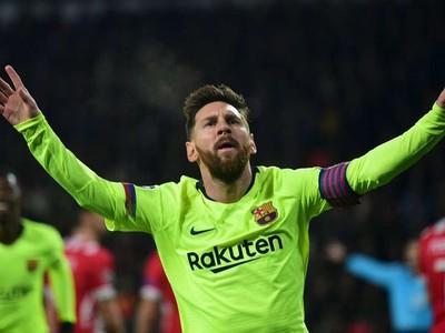 Lionel Messi oslavuje strelený