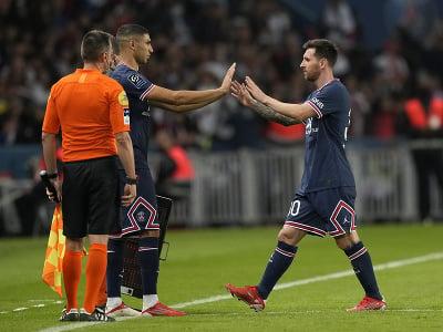 Lionel Messi stireda Achrafa Hakimiho