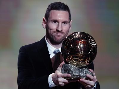 Lionel Messi získal rekordný šiestykrát Zlatú loptu magazínu France Football