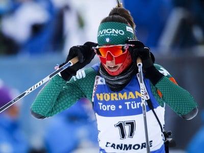 Talianska biatlonistka Lisa Vittozziová