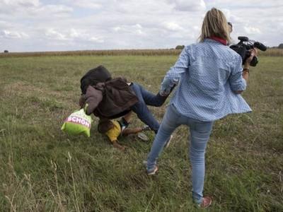 Maďarská kameramanka podkopla sýrskeho