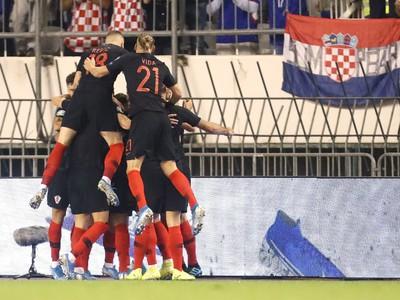Gólová oslava Chorvátov