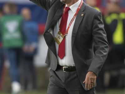 Na snímke tréner Maďarska Marco Rosi