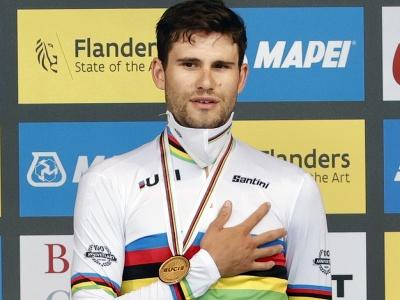 Na snímke taliansky cyklista