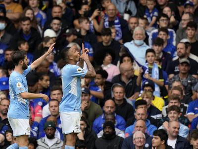 Gabriel Jesus oslavuje gól