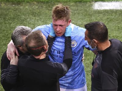 Kevin De Bruyne po zranení odstúpil z finále Ligy majstrov