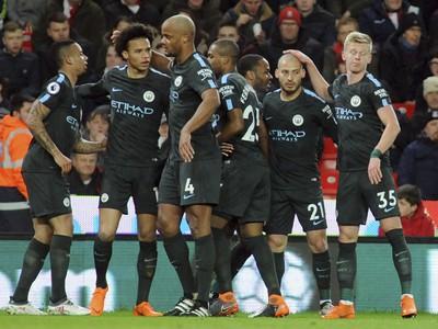 Manchester City oslavuje prvý
