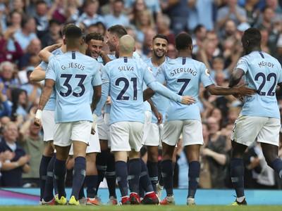 Hráči City sa radujú