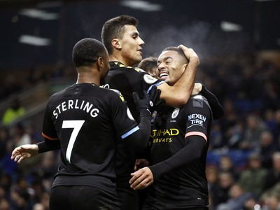 Radosť hráčov Manchestru City