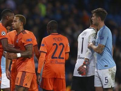 Hráči Lyonu po výhre
