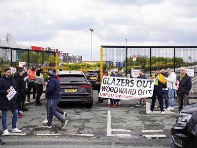 Fanúšikovia Manchestru United protestujú proti majiteľom klubu