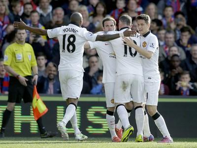 Gólová radosť hráčov Manchesteru