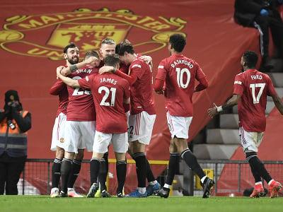 Futbalisti Manchestru United oslavujú gól do siete West Hamu