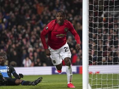 Odion Ighalo z Manchestru United sa teší z gólu