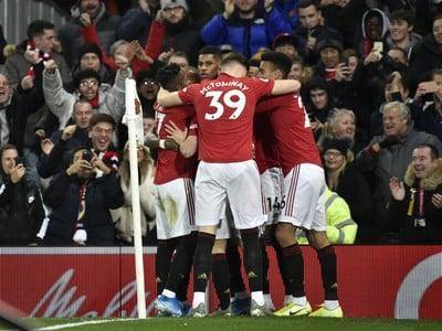 Gólové oslavy hráčov United
