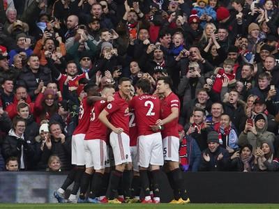 Hráči United sa radujú