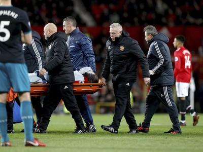 Zranený Romelu Lukaku