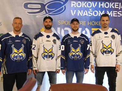 Nováčik najvyššej hokejovej súťaže HK Spišská Nová Ves predstavil nové logo - rysa a hráčov počas tlačovej konferencie 7. júna 2021 v Spišskej Novej Vsi