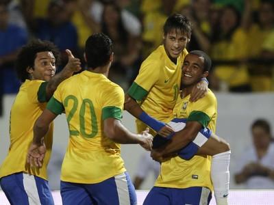 Marcelo, Hulk, Neymar a