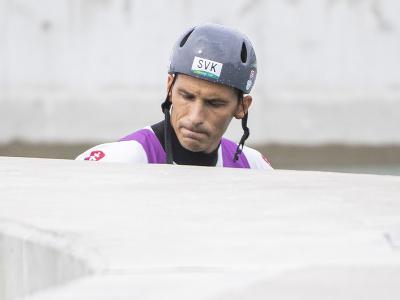 Na snímke smutný slovenský vodný slalomár Matej Beňuš v cieli po štvrťfinálovej jazde v C1 vo vodnom slalome na XXXII. letných olympijských hier v Tokiu