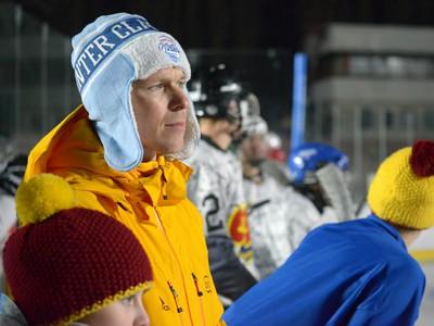 Olympijský víťaz, atlét Matej Tóth počas testovacieho zápasu pred víkendovým hokejovým podujatím Kaufland Winter Classic Games 2019